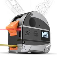 hassas mini araçlar toptan satış-30 M Lazer Menzil Anti-düşme Çelik Bant Measur Yüksek Hassasiyetli Kızılötesi Dijital Lazer Mesafe Ölçer Tedbir Aracı Mezura