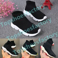 Wholesale infant toddler socks for sale - Group buy Infant Children Kids Athletic Outdoor shoes Speed sock High Sneaker Tess Mesh outdoor Sports shoes toddler boy girl Trainer stretch knit