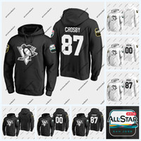 ingrosso hoodies di sidney crosby-58 Kris Letang Pittsburgh Penguins 2019 Felpa con cappuccio All-Star Game 87 Sidney Crosby 71 Evgeni Malkin 81 Phil Kessel 72 Patric Hornqvist Jersey