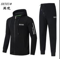 zip hoodies großhandel-Frühling Trainingsanzüge für Männer Mäntel TopsPants Anzüge Logo Mode Herbst Strickjacke Männer Hoodies Sweatshirts mit Reißverschluss Herrenbekleidung