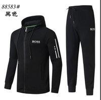 Wholesale clothing for running for sale - Group buy Spring Tracksuits For Men Coats Tops Pants Suits Logo Fashion Autumn Cardigan Men Hoodies Sweatshirts Zipped Mens Clothing