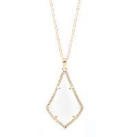 ingrosso collana di argento del lupo teen-Fashion Kendra Style Opal Fashion Pietra goccia d'acqua di alta qualità Cat Eye Gioielli ciondolo in pietra per donne