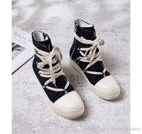 ingrosso gli stivali di cuoio delle donne dell'anca-2019 NEW Owens Gaobang scarpe uomo e donna 2018 scarpe di tela nuova hip-hop marea high-top selvaggio casual uomo in pelle da donna scarpe da tennis Stivali