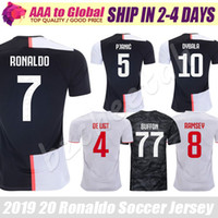 Wholesale cristiano ronaldo black jersey for sale - Group buy Cristiano Ronaldo jersey Top Football shirts Mandzukic Chiellini Ramsey De Ligt Ronaldo Dybala soccer jerseys uniform Maillot de foot