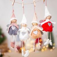 Wholesale white house christmas ornament for sale - Group buy Christmas decoration pendant Christmas cute angel plush doll house ornaments tree creative decorative ornaments