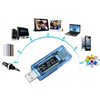dc dijital amper göstergesi toptan satış-USB Pil Test Cihazı Voltmetre Güç Bankası Teşhis Aracı Akım Gerilim Doktor Şarj Kapasitesi Tester Metre Ampermetre Dijital