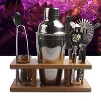 ingrosso vino del bar del kit-Kit shaker in acciaio inox Set shaker da cocktail in metallo stile occidentale Kit shacker in metallo facile da pulire Bar Tool Camp Kitchen CCA11509 20 pezzi