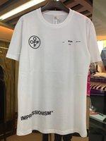 ingrosso maglia oversize nera-Fashion off T shirt Bianco Nero Lettere Stampa Estate Tees Uomo Donna T-Shirt oversize Hip Hop Street Tops Bianco tshirt M-XL