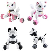 Wholesale pet robot toys for kids for sale - Smart Kids Pet Toy Dog Cat Infrared Voice Control Series Robot For Children Electric Toys Alpinia Creative jj D1