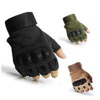 Wholesale new tactical gloves for sale - Group buy New Tactical Half Finger Glove Riding Cycling Gloves Antiskid Combat Bodybuilding Outdoors Sports Man High Quality Autumn Hot Sale waG1