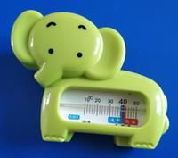 termômetro molhado venda por atacado-Ambas as crianças Wet And Dry Safty Bebê Elefante Pequeno Elefante Termômetros de Água Elefante Bebê Termômetros Animais Bebês Banhos Termômetro