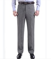 Wholesale formal men s clothing for sale - Group buy Designer Solid Mens Fashion Suit Pants Mid Waist With Zipper Fly And Pocket Pants Mens Clothing
