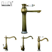 антикварные медные краны оптовых-Antique copper faucet rustic bathroom sink tap antique brass kitchen faucets torneiras para pia de banheiro