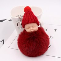 Wholesale weddings souvenirs giveaways resale online - 20pcs Baby Shower Party Favors Guest Giveaway Sleeping Baby Keychains Personalized Gift Bags Decoration For Wedding Souvenir