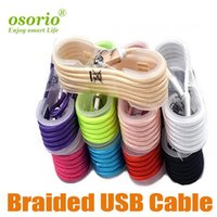 Wholesale best iphone charger cable for sale - Group buy Best seller Cell Phone Cables m braided High Speed micro Type C USB Cable Nylon Braided data cable Metal Charger data cable
