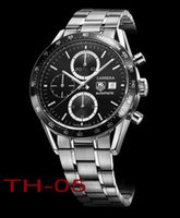 Wholesale f1 men watch for sale - Group buy Top Mens EUER CARRERA F1 Watches Mechanical Automatic Watch Stainless Stell Wristwatch men Sports Wristwatches