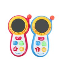 Wholesale mobile babies for sale - Group buy Baby Mobile Phone Toy With Music Mirror Simulation Phones Plastic Puzzle Toys Early Education Red Blue Creative Children kr D1
