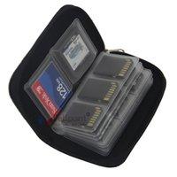 memória do saco venda por atacado-Na moda Mini Carteiras Ao Ar Livre 22 Slot Cor Lisa Micro SD Titulares de Cartão de Memória Prático Sacos De Armazenamento Moda Durável 4 8cp E1