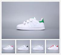 весенние зимние кроссовки оптовых-Adidas Stan Smith stansmith Детская обувь мальчиков девочек кроссовки 2018 весна осень зима новое прибытие мода супер звезда подростковая повседневная обувь детская обувь