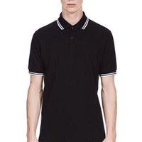 orange polo-stil hemden großhandel-Mode Männer Casual Polo-Shirts Blattstickerei Baumwolle England Style Männlich London Brit Polos Freizeit Tees Weiß Schwarz Grün Rot