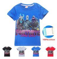 kinder mädchen kleidung design für den sommer großhandel-Fortnite New kids entwarf T-Shirt Kleidung für große Jungen Mädchen Kinder gedruckt Hip POP Tees Kleidung Sommer Kleidung Kurzarm Shirts