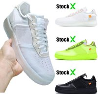 trainer basketball groihandel-Mit Box off white nike air force 1 off white air force one forces dunk weiß Volt schwarz Frauen Herren Laufschuhe Basketball Schuhe lässige Schuhe Turnschuhe