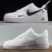 купить черные туфли оптовых-Купить Марка airlis Мужские модные женские кроссовки кроссовки af1 все белые черные силы 1 один низкий высокий лучший онлайн