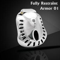 Wholesale male chastity devices bird cage resale online - CHASTE BIRD Newest Design Stainless Steel Male Fully Restraint Bowl Chastity Device Sex Toys Cock Cage Penis Ring ARMOR