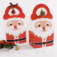 weihnachtskuchen papier großhandel-Weihnachtsmann Tote Papierkasten Weihnachtszuckerkuchen Storage Box Frohe Weihnachten Kleine Kuchen Aufbewahrungsbox