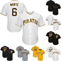 camiseta de béisbol 55 al por mayor-Pittsburgh 6 Starling Marte 25 Gregory Polanco 45 Michael Feliz 26 Adam Frazier 53 Melky Cabrera 55 Josh Bell Camisetas de béisbol de piratas