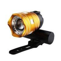 Wholesale bike headlight usb resale online - 1500LM T6 USB Rear Light Adjustable Bicycle Light mAh Rechargeable Battery Zoom Front Bike Headlight Lamp