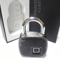 Wholesale fingerprints lock for sale - Group buy New Smart Fingerprint Lock Portable Security Padlock Waterproof Anti theft Padlock for Golf bag Suitcase Gym Locker Cupboard Drawer Door
