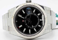 Wholesale digital big dial watch for sale - Men s Luxury Products Quality Classic Big Sky Dweller Auto Steel Mens Bracelet Automatic Date GMT Black dial Movement Watch