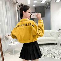 bayan beyzbolu toptan satış-En iyi Casual Kadın Fermuar Hırka Ceket Beyzbol Ceketler kadın Kot Kadın ceket