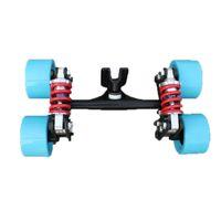 lastwagen alu-räder großhandel-2019 neue elektrische skateboard lkw aluminium brücke neue vier skateboard räder lange skateboard lkw für flache platte teile