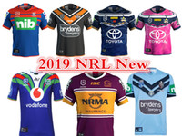 caballeros azules al por mayor-2019 NEWCASTLE KNIGHTS WESTS TIGERS NORTH QUEENSLAND VAQUILLOS BRISBANE BRONCOS NSW BLUES JERSEY tamaño S-3XL