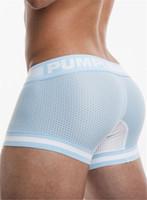 erkek iç çamaşırı seksi giyim toptan satış-Seksi İç Giyim cueca Boxer Erkekler Mesh Şort Artı boyutu Katı Erkek Giyim Boksörler Külot Şort Seksi Fat Guy 100kg Erkek Şort