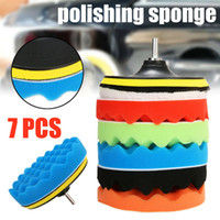 Wholesale car wheel sponge for sale - Group buy 7 Car Sponge Polishing Pad Set Buffing Waxing Pad For Car Polisher Buffer Drill Adapter Wheel brush quot quot quot quot quot Optional