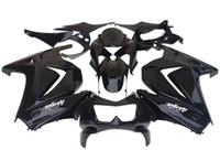 pára-brisas livre venda por atacado-Novas vendas quentes kit Black Fairing para KAWASAKI Ninja 250R EX 250 2008 2009 2010 2011 2012 EX250 08 09 10 11 12 Free windscreen