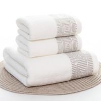 toalha de banho para adultos venda por atacado-Toalhas Conjunto Listrado Macio 100% Algodão Banheira Chuveiro Grosso Casa de Banho Spa Toalha de Rosto para Adultos Toalla Serviette 3 pçs / set Handtuch