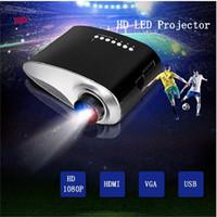 mini proyectores para ipad al por mayor-LCD mini proyector portable de 1080P HD LED Proyectores RD802 reproductor multimedia HDMI / VGA / USB / SD / AV de cine en casa Cine para el ordenador portátil del iPad
