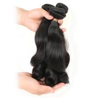естественное скручивание 16 дюймов оптовых-Funmi локон Свободная волна 9а 3 пучки дело реальные девственные сырые человеческие волосы необработанные ткать утка 300г естественный цвет (14 16 18 дюймов)
