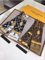 alças de gravata venda por atacado-2019 marca designer de fita de seda super macia multi funcional moda de luxo headscarf bow tie bolsa cinta frete grátis