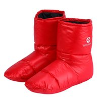 Wholesale sleeping feet socks for sale - Group buy AEGISMAX Duck Down Booties Slippers Soft Socks For Camping Outdoor Indoor Keep Foot Warm US Size Red
