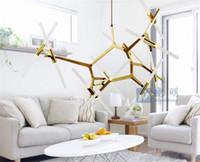 oturma odası için sanat dekorasyonu toptan satış-Restoran Living Room Yaratıcı Ağacı Avize İskandinav Basit Modern Bireysellik Ağacı Taç Avize Sanat Dekorasyon Lambalar