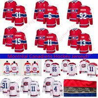 Wholesale canadiens hockey jerseys red for sale - Group buy 2018 New Montréal Canadiens Shea Weber Carey Price Brendan Gallagher Max Domi Stitched Red and White Ice Hockey Jerseys