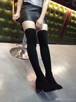 Wholesale over knee stretch boots for women resale online - 2019 New stretch boots for women