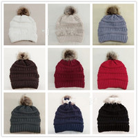 Wholesale winter white hats for women for sale - Group buy Cashmere Hair Ball Beanies For Women Sleeve Head Knitted Hat Winter Fashion Woolen Hats Red Black White nx D1