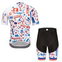 ciclismo bib set xs venda por atacado-2019 camisa de ciclismo de manga curta de verão bib shorts bicicleta roupas secagem rápida respiração para roupa maillot conjunto de ciclismo