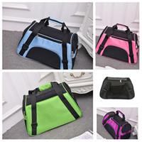 eslingas para cães de estimação venda por atacado-Moda Folding Pet Carriers Saco portátil da mochila de cão Soft Slung Transportador Transporte Dog Outdoor Bag Basket Handbag Dog SuppliesT2I5414